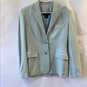 Ralph for Ralph Lauren sky blue leather blazer